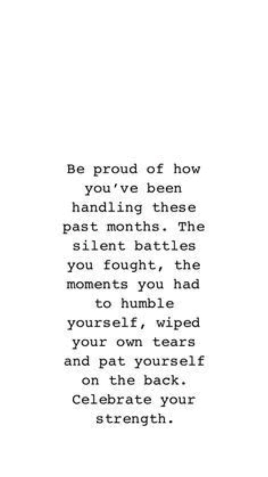 Be Proud Of YOU!