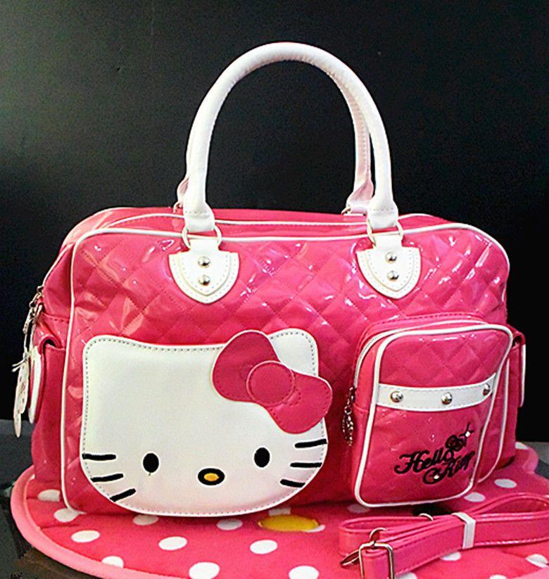 1c9dd8b6ada3 Hellokitty Large Handbag Purse Travel Bag Lam-2089