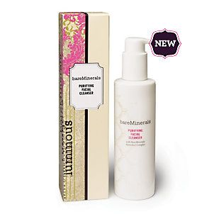 BareMinerals Purifying Facial Cleanser. It's a good deal and does what is says (though I use eye makeup remover, too).