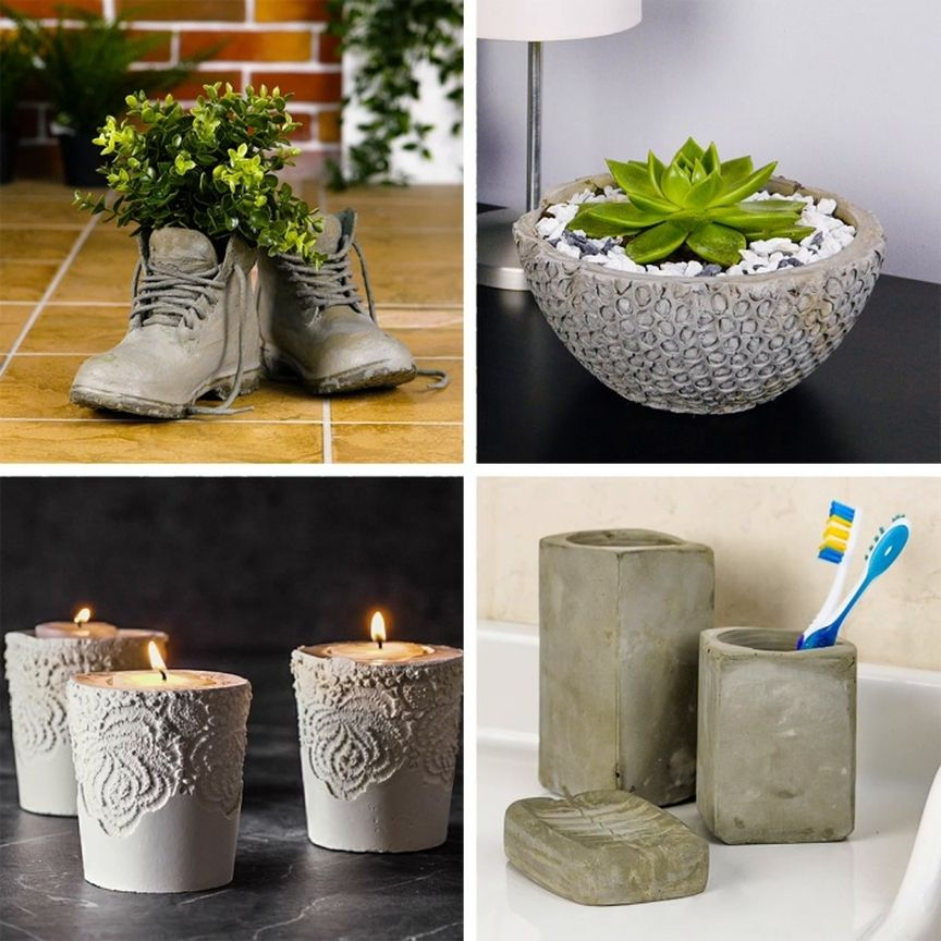 Cement Craft Ideas At Home