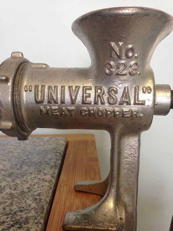 Vintage Universal Meat Grinder Large grinder. Country cottage farmhouse kitchen decor