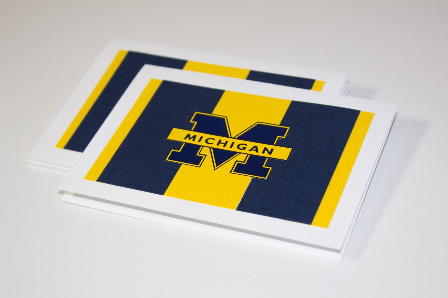 University Of Michigan Wolverines Maize And Blue Greeting Cards By