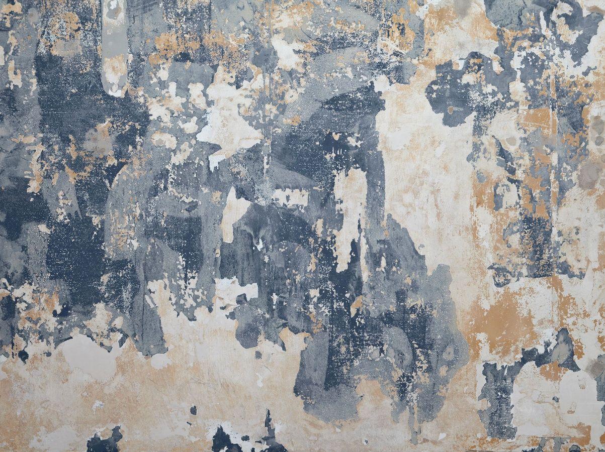 Slaapkamer Met Kunstmuur : Een verweerde vintage muur in de kleuren blauw zwart en wit zeer