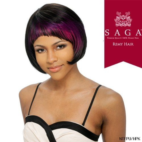 SAGA 100% REMY HUMAN HAIR WIG - UNITY - 1 by SAGA. $29.99. MODEL SHOWN: NTF144/350/99J. Premium quality wig. 100% REMY HUMAN HAIR. No fuss or mess, just perfect hair