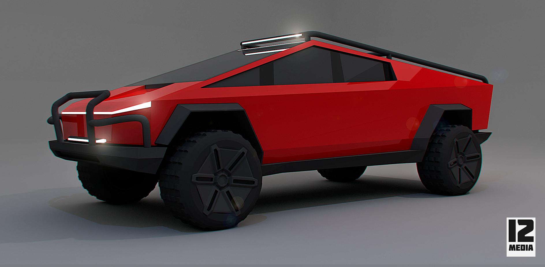 Modded Cybertruck Tesla Car Futuristic Cars Tesla Motors