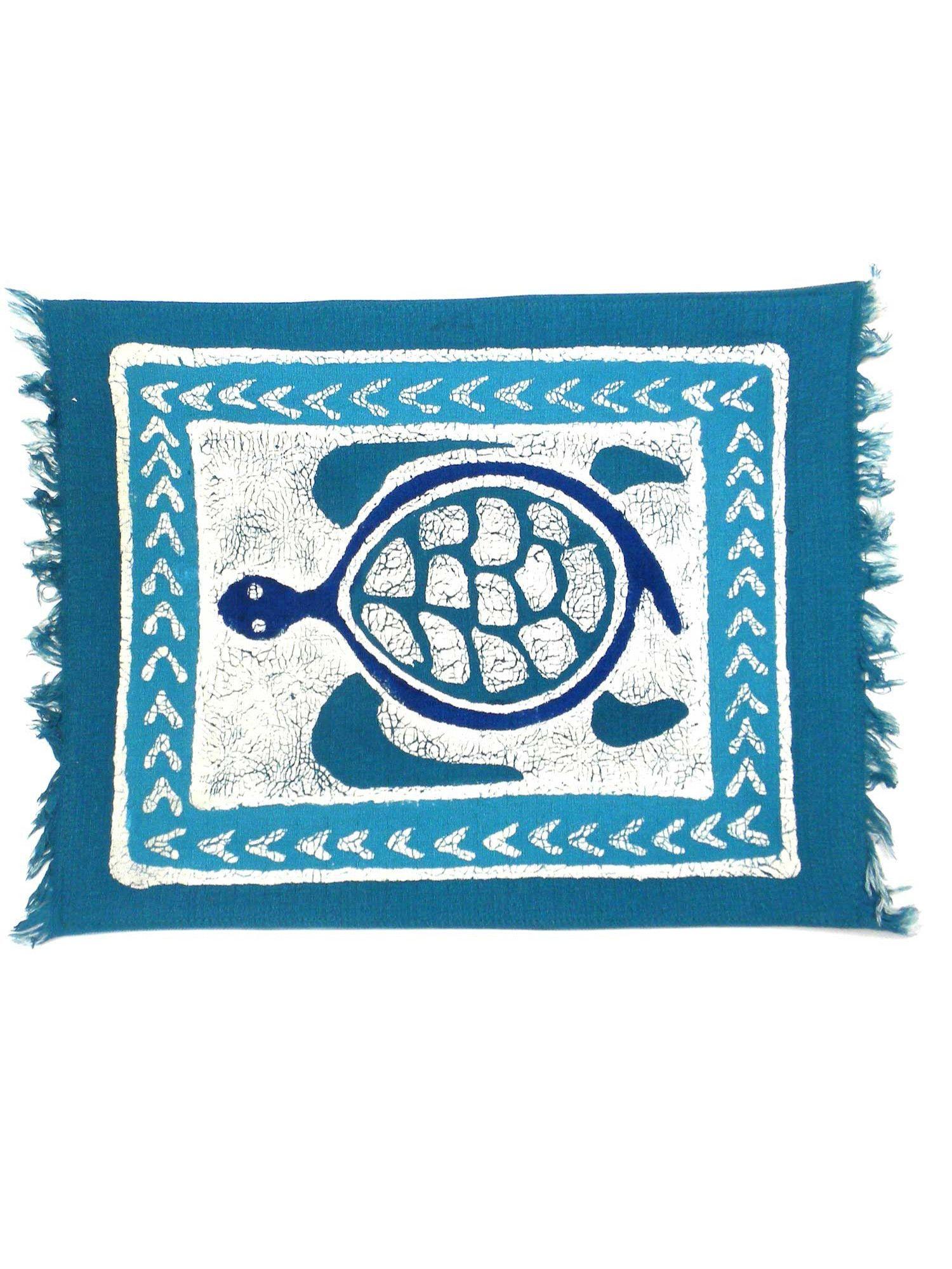 Handpainted Blue Turtle Batiked Placemat   Gift ideas   Pinterest ...