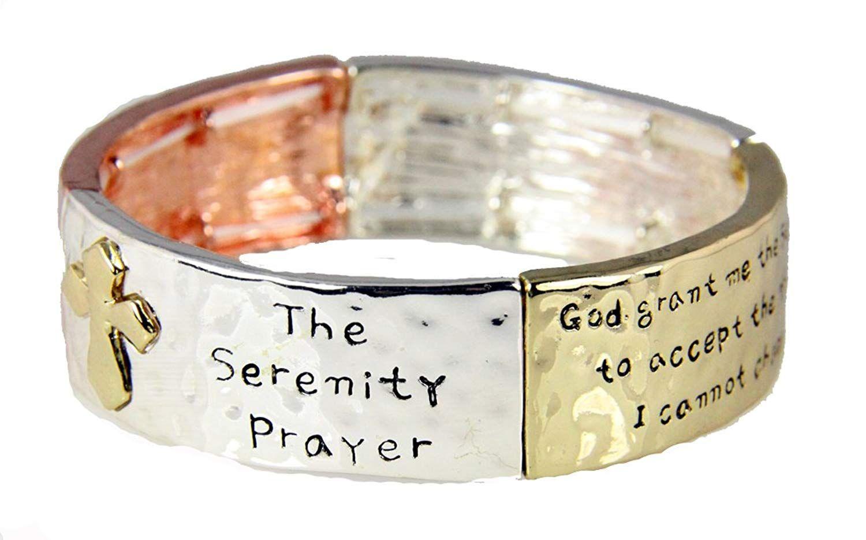 Serenity Prayer Bracelet Strength Courage Hope Aa