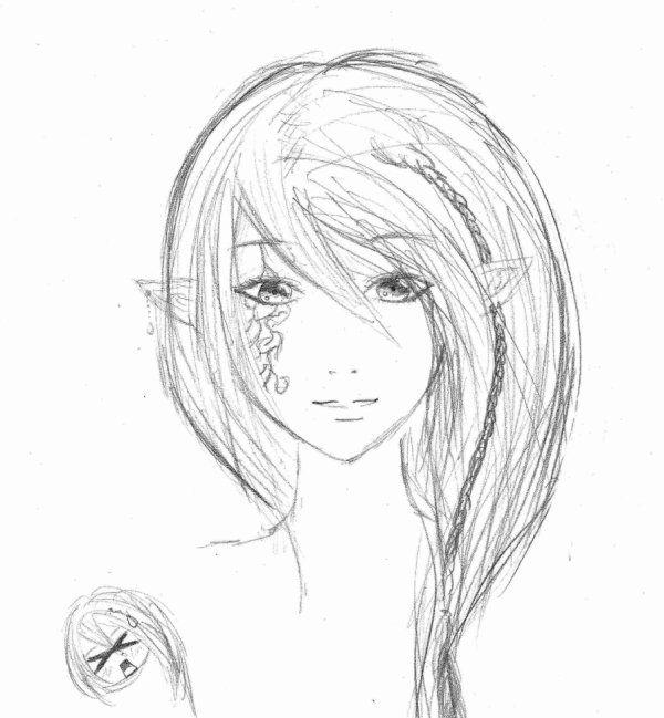 Dessin elfe facile recherche google dessin dessin elfe dessin et dessins faciles - Manga coloriage elfe ...