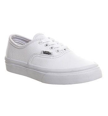 Vans Authentic Kids White Mono Uni