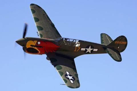 Curtiss P-40 Warbird Warhawk airplanes