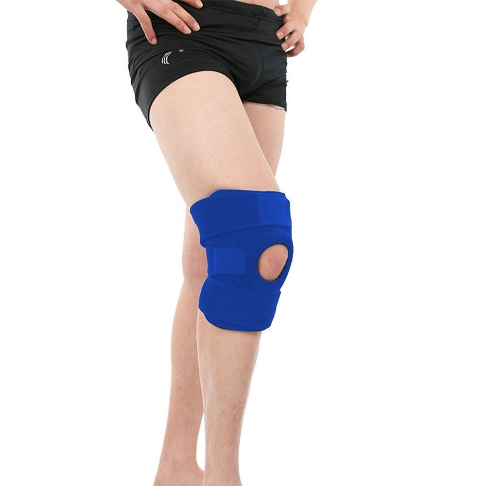 Elastic knee pads adjustable four spring safety guard