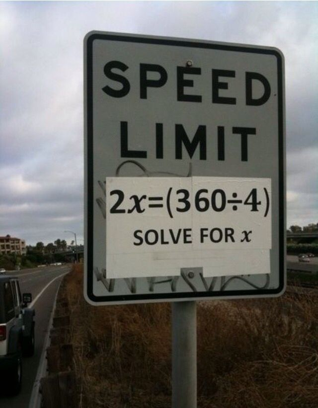 Sign And Drive 45 >> Ghee Answer Is 45 But I Would Literally Never Drive If