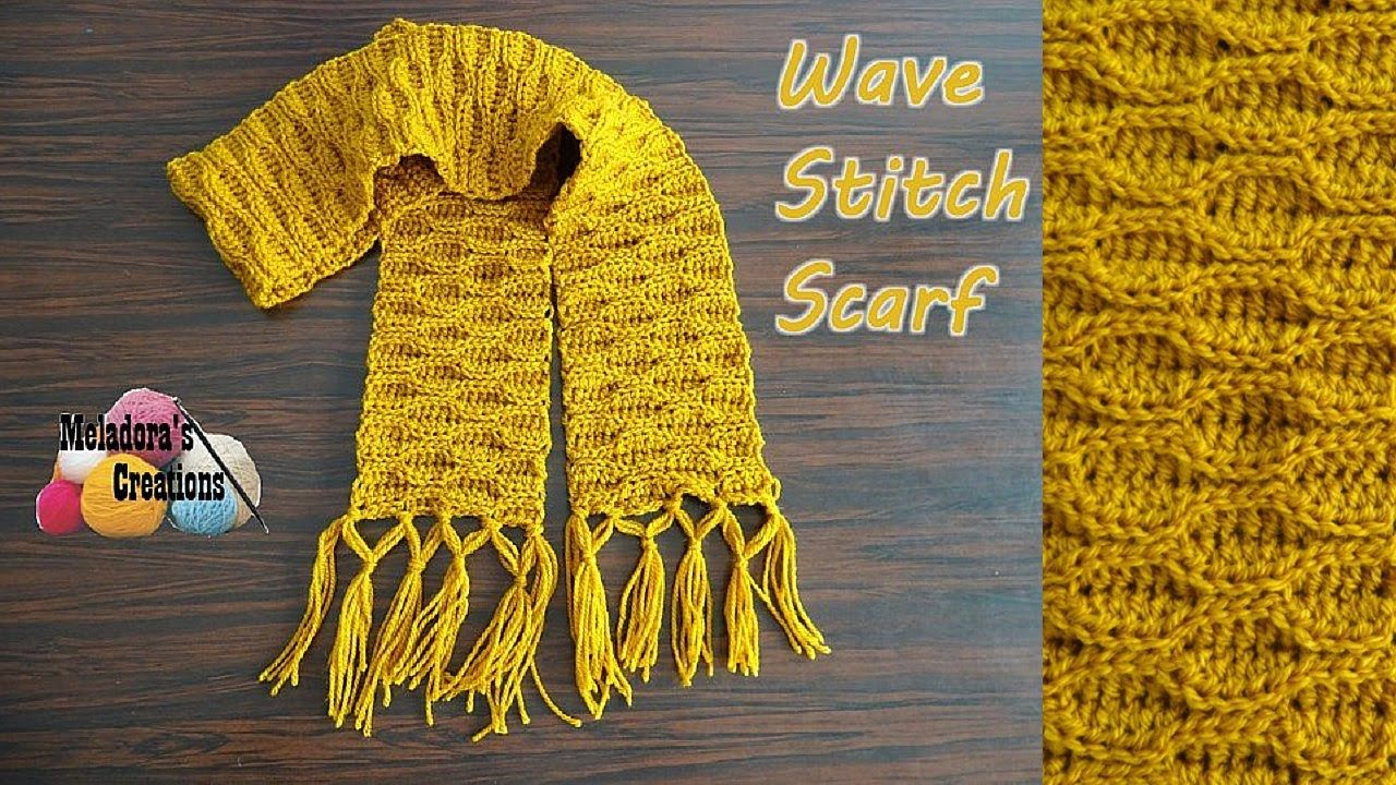 Wave Stitch Scarf - Crochet Tutorial | mayliss bredesen | Pinterest
