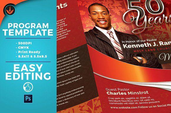 Crimson pastors anniversary program by seraphimchris on crimson plus silver pastors anniversary church program template thecheapjerseys Images