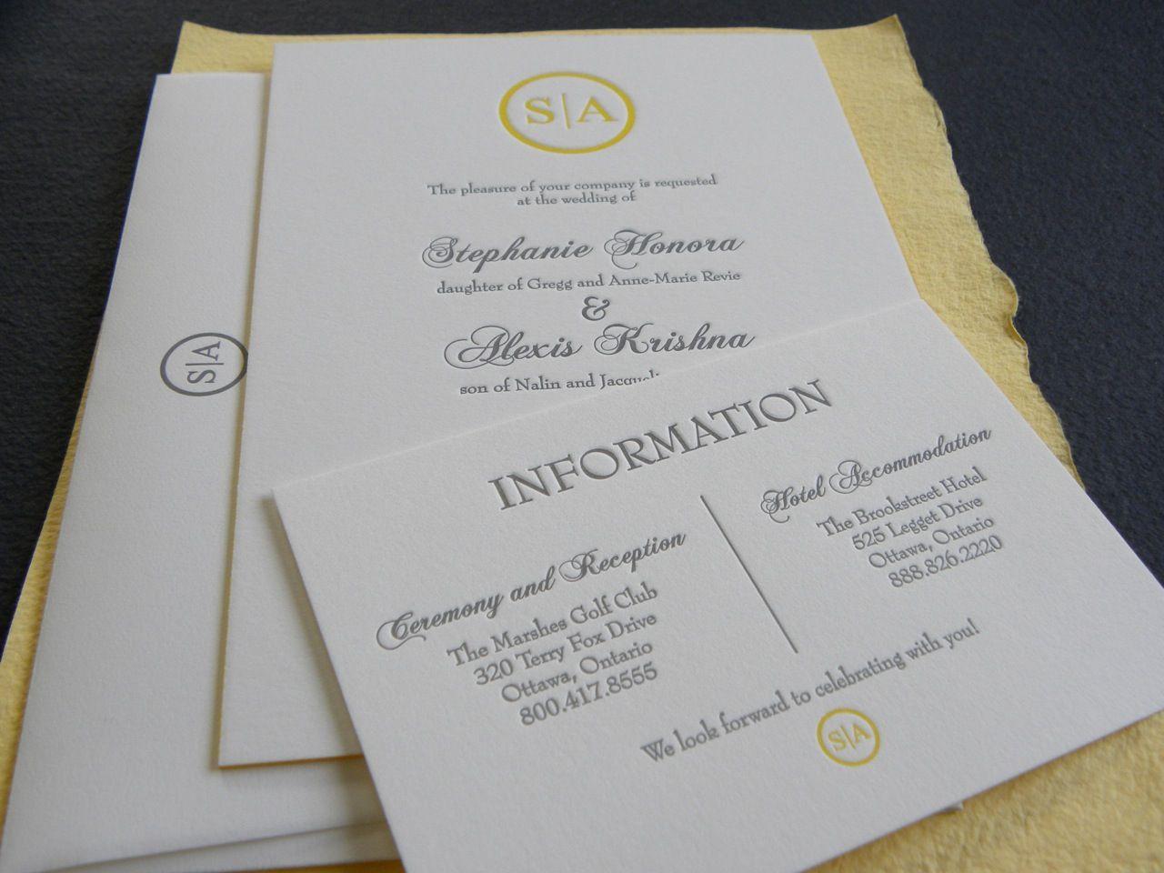 Stephanie & Alexis Wedding Invitation | Wedding suite, Monogram ...
