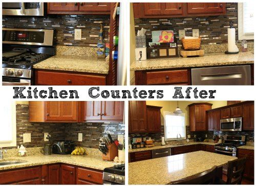 Kitchen Counters After Organization Recently I Shared Some