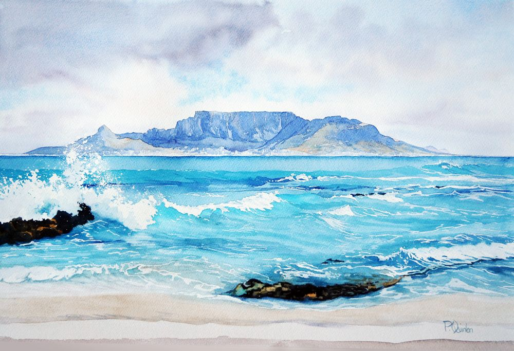 Pamela Quinlan Watercolor Ocean Mountain Paintings Watercolor