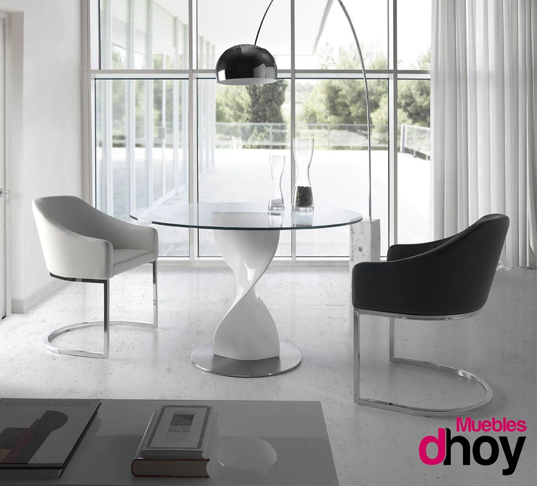 Mesa de comedor ORION. Elegante diseño de líneas curvas que aportan ...