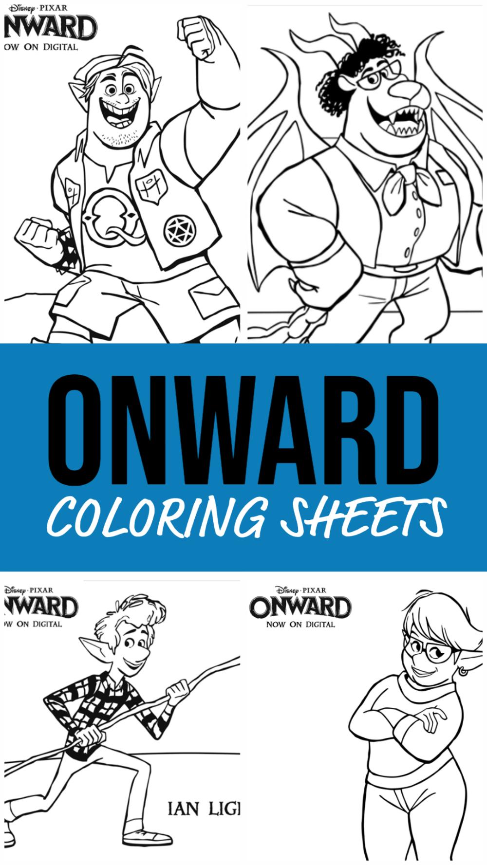 ONWARD Coloring Sheets i 2020