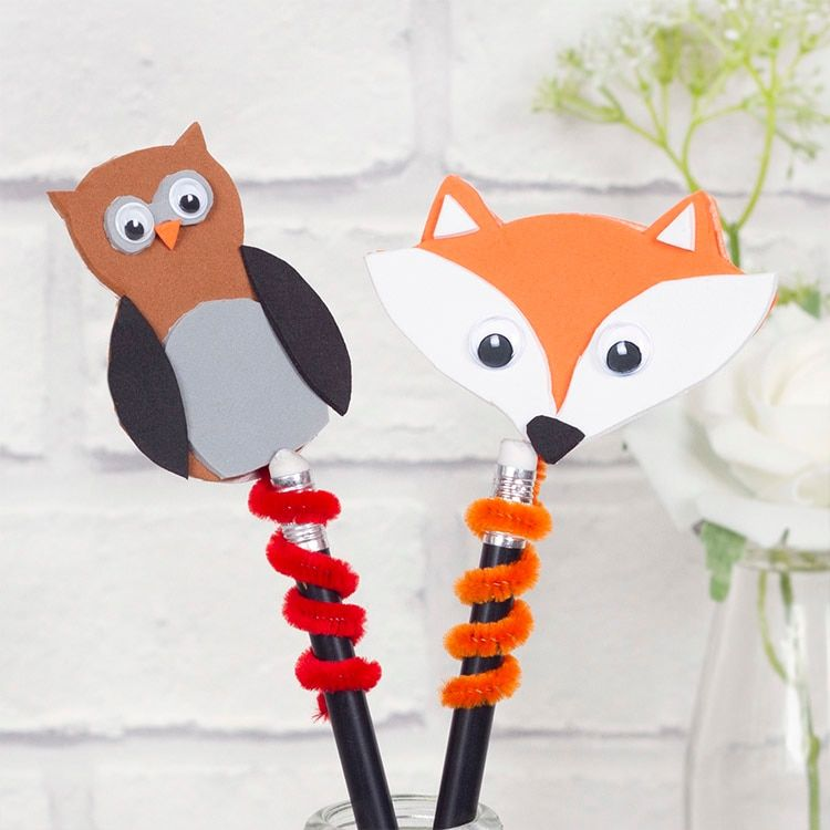 Woodland Animal Pencil Toppers Pencil Toppers Woodland Animals