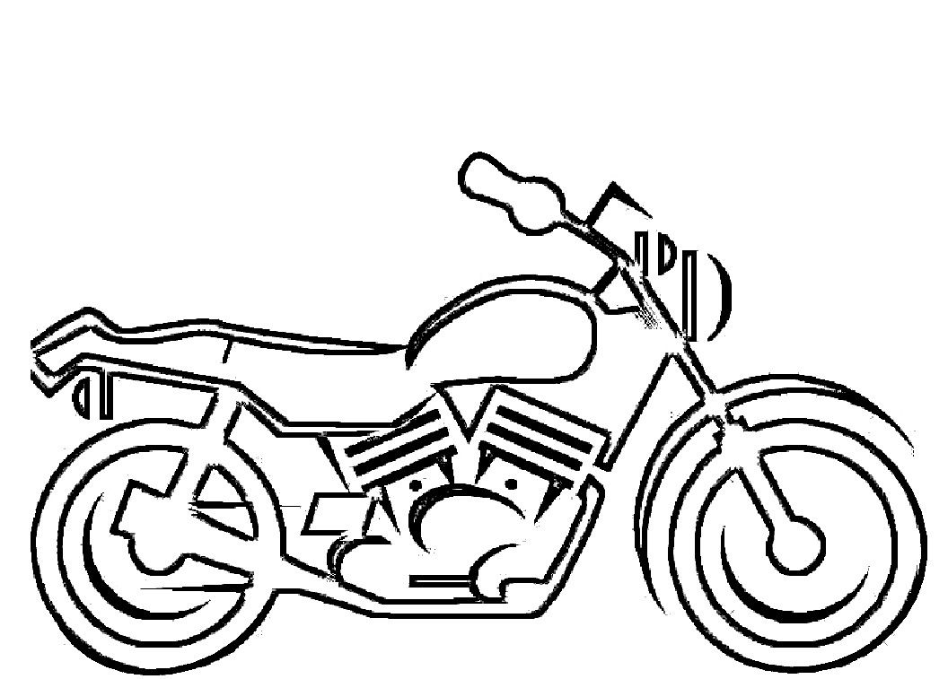 Motorcycle Coloring Pages For Kids 2 Wheeled Rides Pinterest