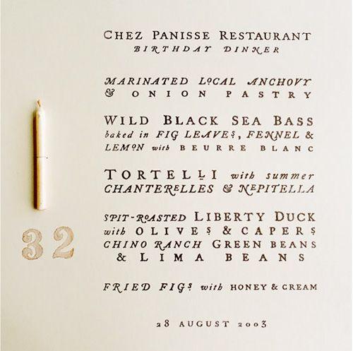 Chez Panisse, birthday dinner