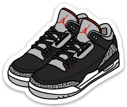 9e8bbe0e9a7e7c Air Jordan 3 Cement Sticker