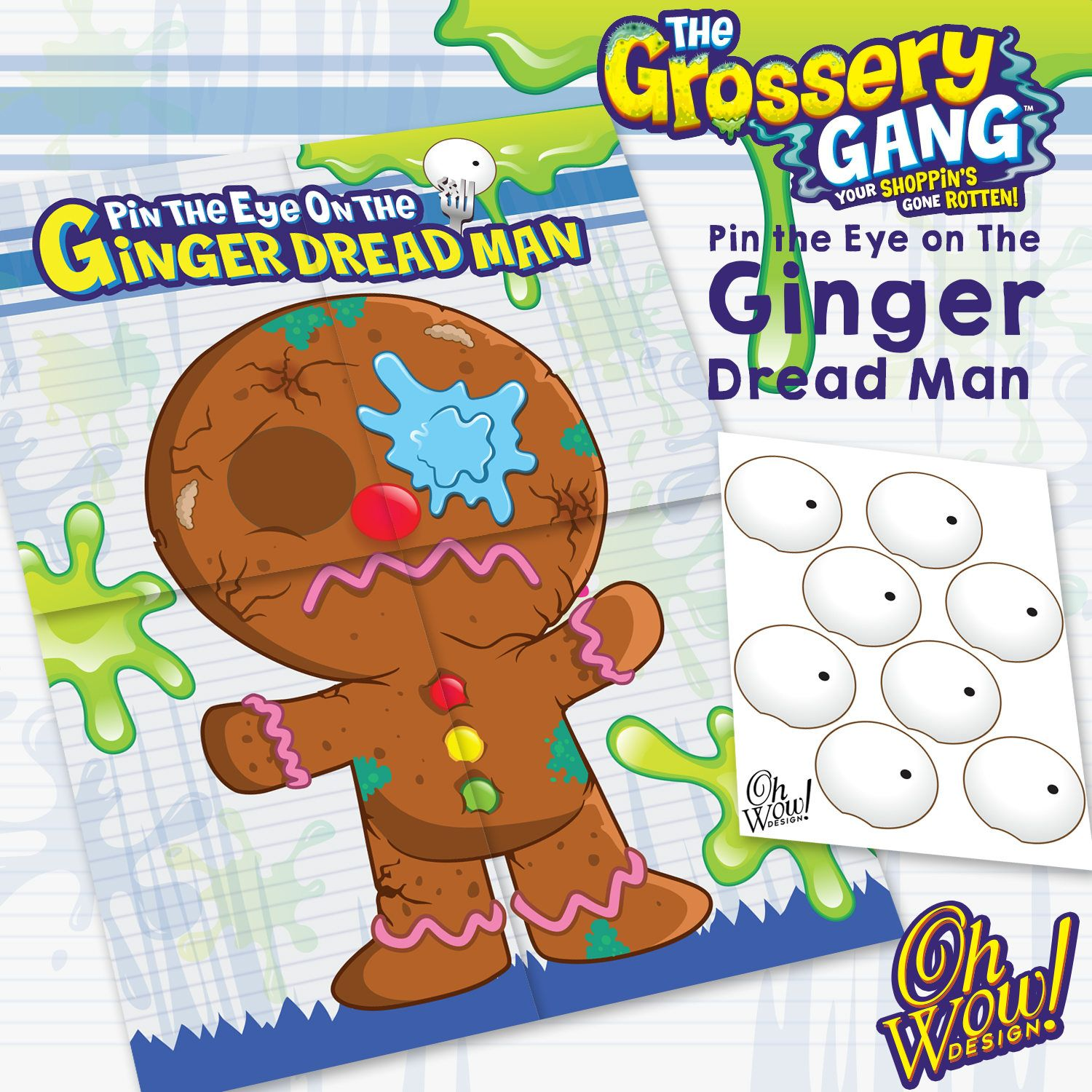 Ginger Desenho within grossery gang theme pin the eye on the ginger dread man: digital