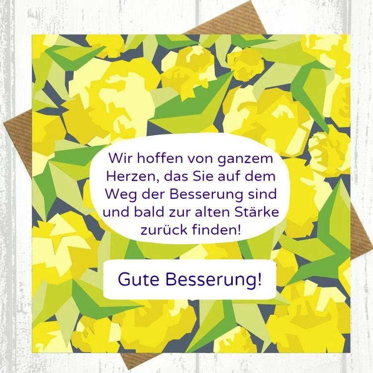 Genesungswünsche Für Kollegen Chef Blumenmotiv Gute Besserung Staerke
