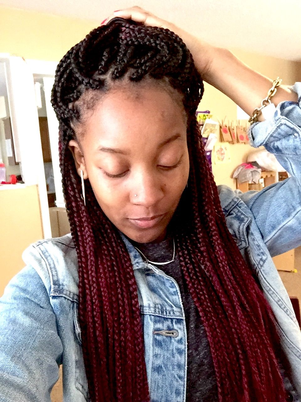 Ombr 233 Color Box Braids I Ve Been Waiting For This Style