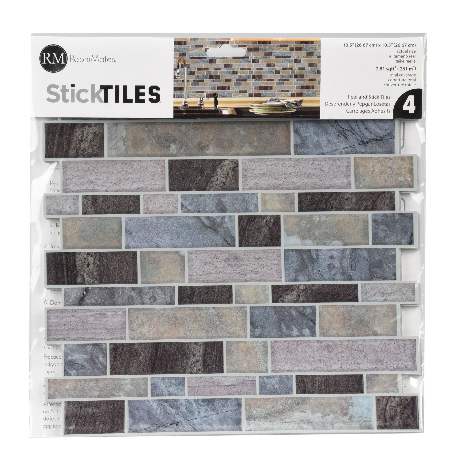 Roommates Natural Stacked Stone Peel And Stick Wall Decor Wallpaper Walmart Com Faux Stone Walls Faux Stone Wallpaper Stacked Stone