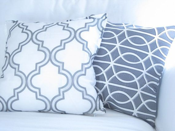 Decorative Pillow Gift SetGrey Trellis Lattice Pillow Set Elegant Awesome Decorative Bed Pillow Sets
