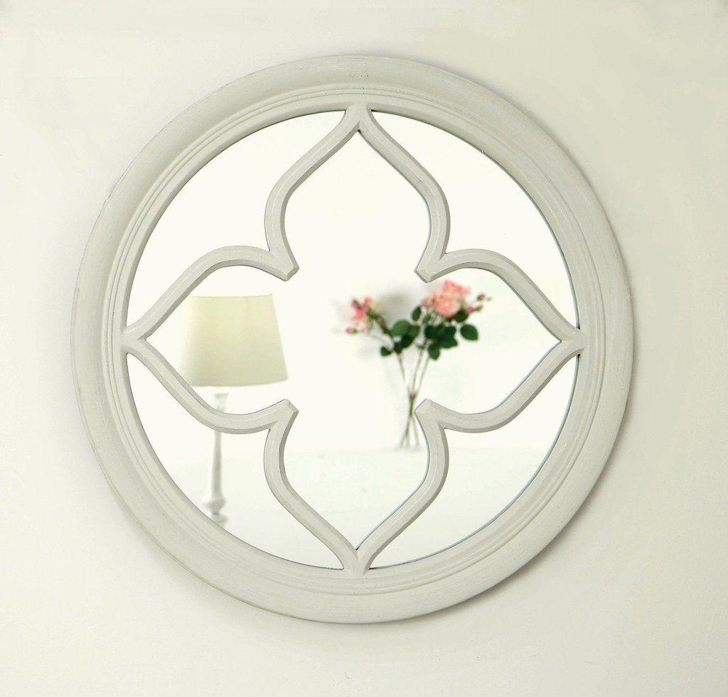 Pergomas Vintage White Shabby Chic Round Window Mirror 24 X 24 60cm X 60cm Window Mirror Mirror White Shabby Chic