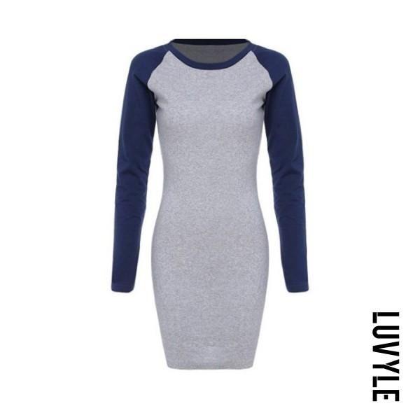 997671af1 Luvyle - Luvyle Round Neck Sheath Long Sleeve Bodycon Dress ...