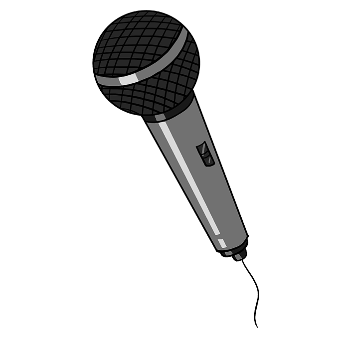 How To Draw A Microphone Really Easy Drawing Tutorial Drawing Tutorial Easy Microphone Drawing Family Tree Project