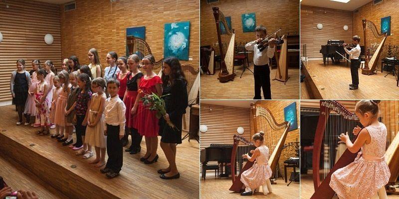 Koncert Hagibor 19.6.2016 - třída Pavla Jahodová, Ada Slivanská, Václav Slivanský