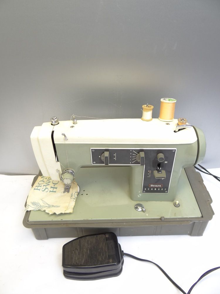 Vintage Used Broken Sears Kenmore Model 40 Green Electric Sewing Impressive Sears Sewing Machine Parts