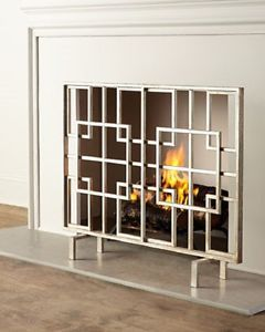 Fireplace screens and Modern fireplaces