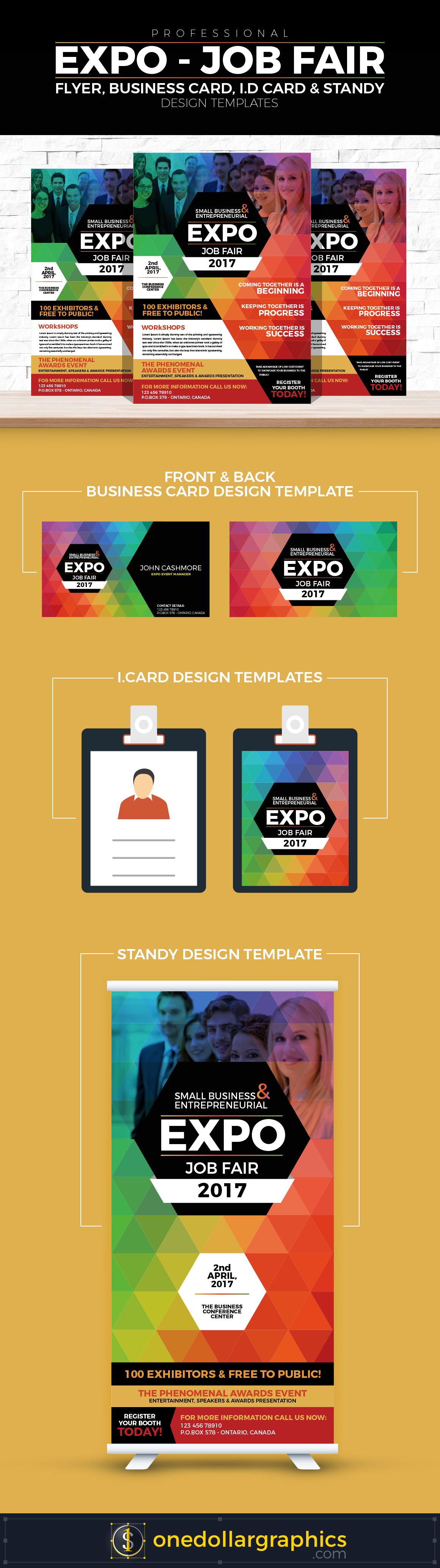 professional job expo job fair flyer business card i d card buy the best graphic resources of professional expo job fair flyer business card i d card standy design templates these design templates helps the