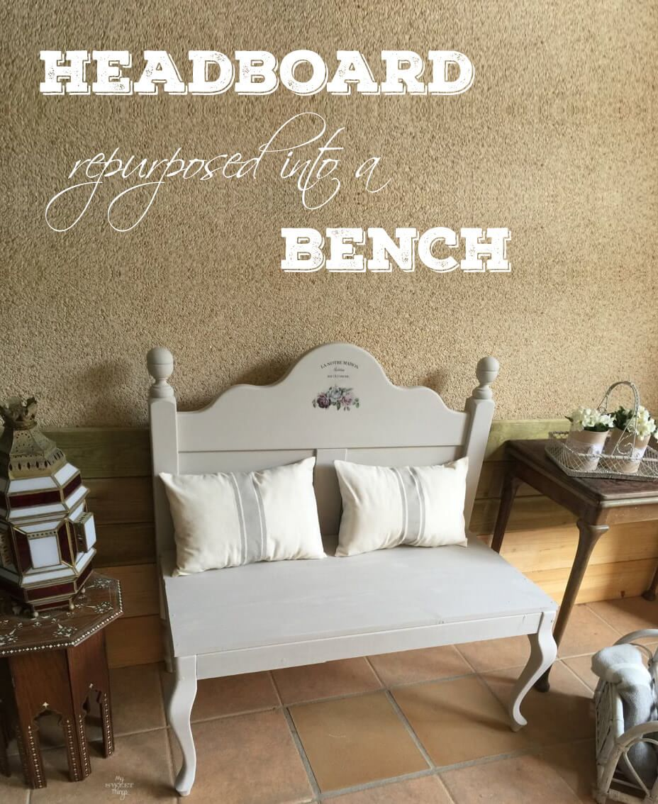 How a headboard and a chair ended up together   Bancos, Sillones y ...