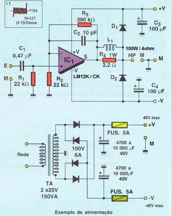 100W x 4 ohm audio amplifier | Electronics | Pinterest | Audio amplifier