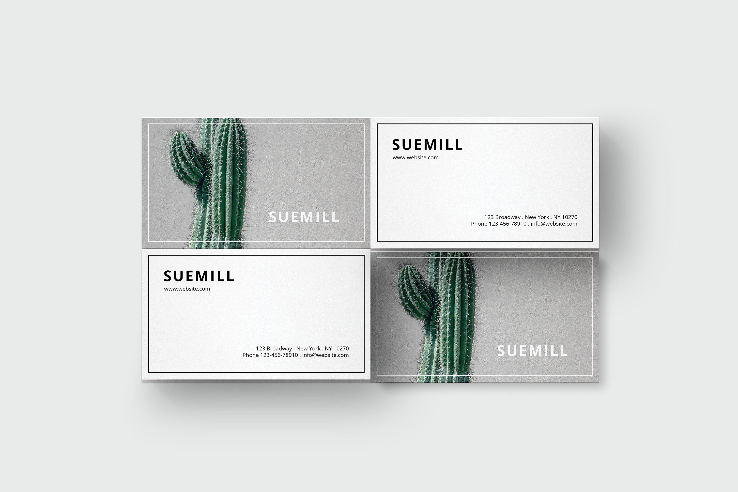 Business card template with cactus   Card templates, Business cards ...