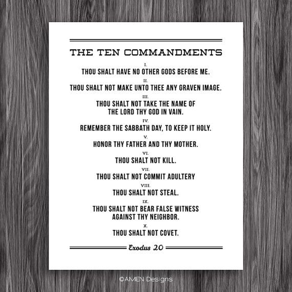 photograph about Ten Commandments Printable called The 10 Commandments. Printable Structure. For 11x14\