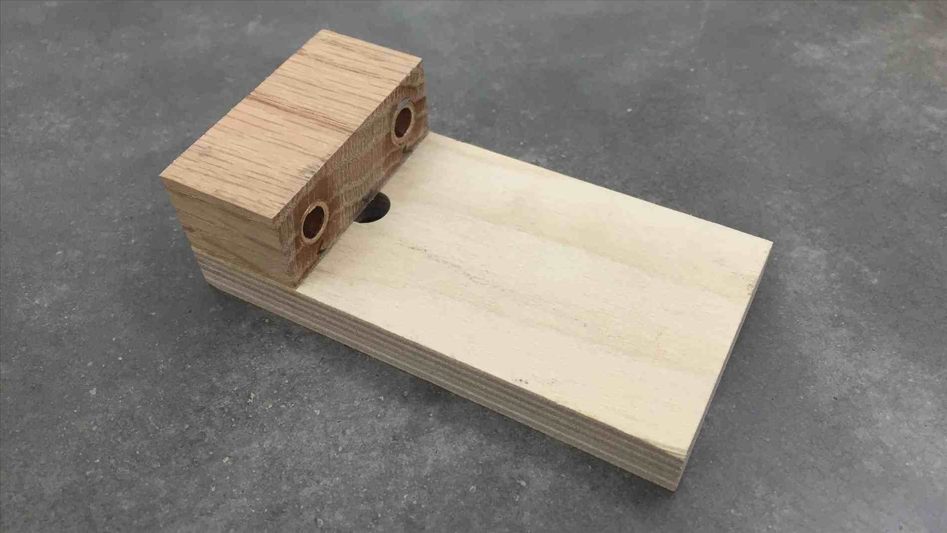 make Dowel Template a simple doweling jig youtube liquid container ...