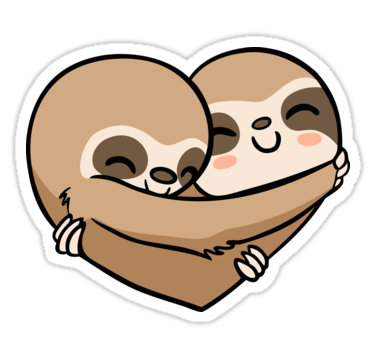 Sloth heart sticker by miszasta