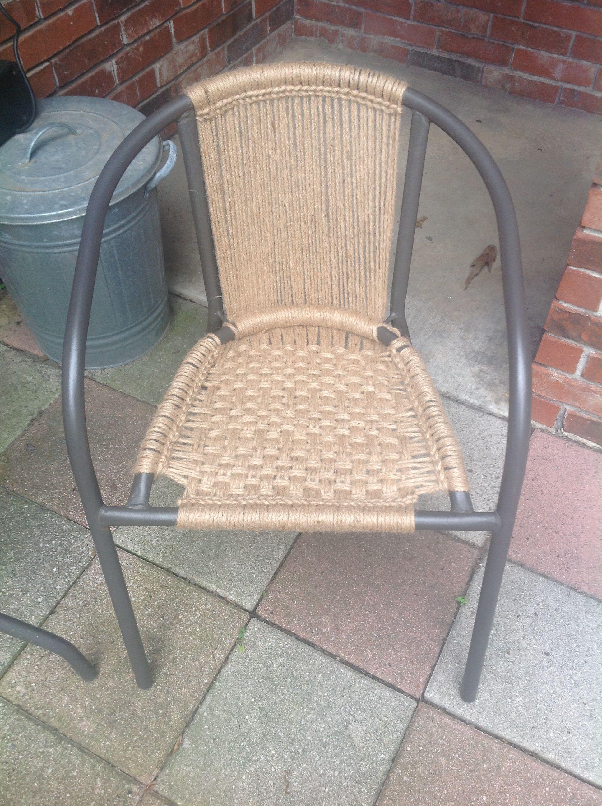 jute rope macrame chair formerly