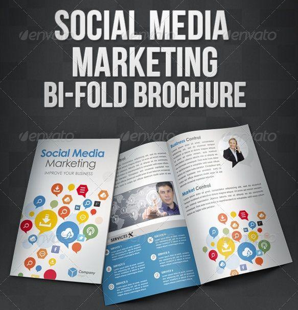 Social Media Marketing BiFold Brochure – Marketing Brochure