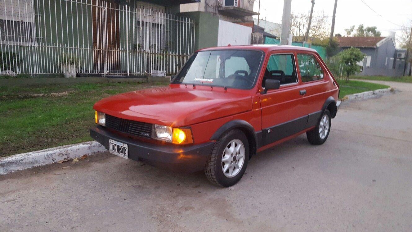 Fiat 147 Rojo Enfierrado Puestas De Sol Rojo