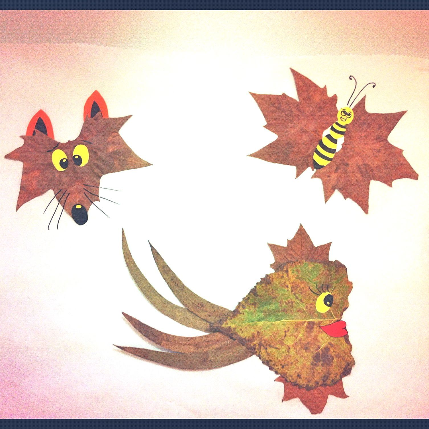 Leaves on pinterest autumn leaves fall leaves crafts and fall - Cute Animals Of Autumn Leaves Fall