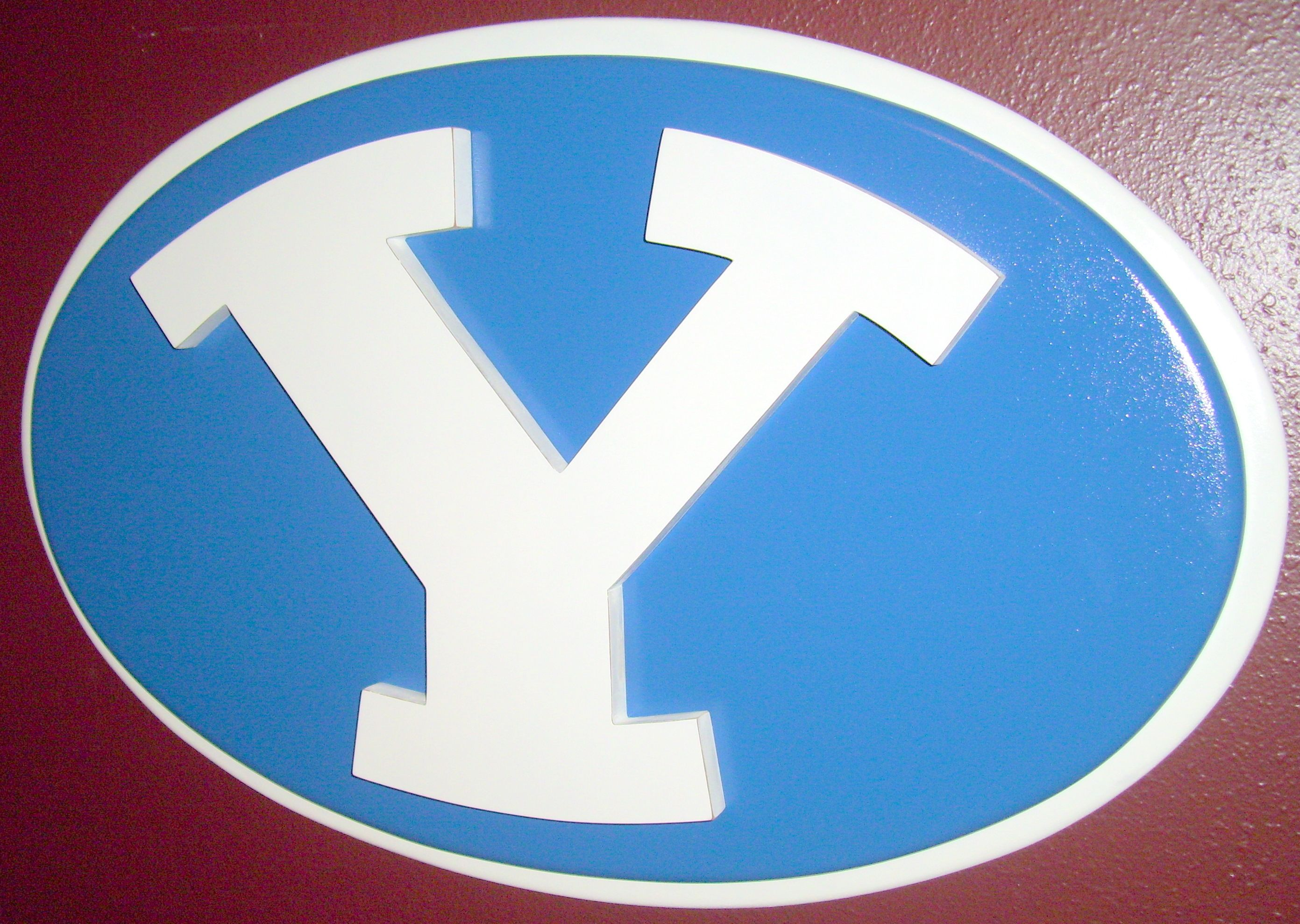"""BYU Wood Logo  - MormonFavorites.com  """"I cannot believe how many LDS resources I found... It's about time someone thought of this!""""   - MormonFavorites.com"""